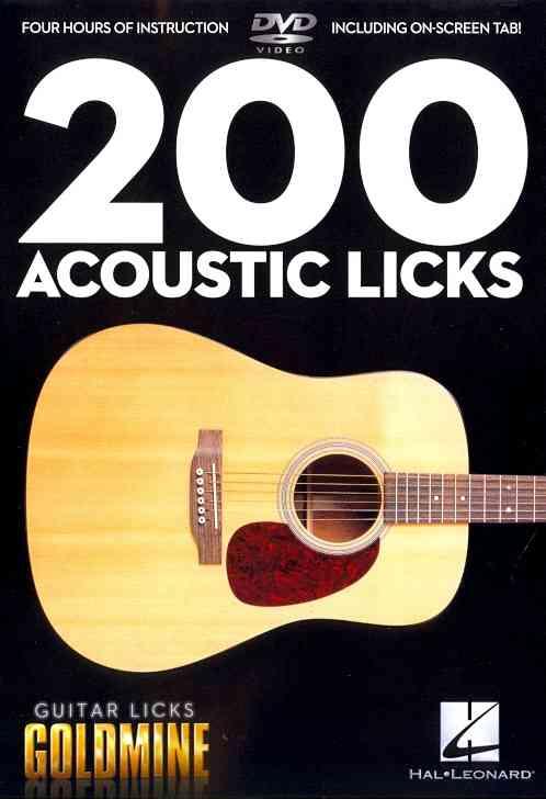 200 ACOUSTIC LICKS BY SCHROEDER,MATTHEW (DVD)